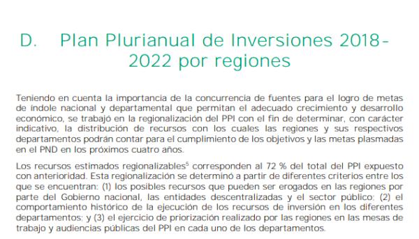 Plan Plurianual de inversiones 2018- 2022 para la Región Caribe 2