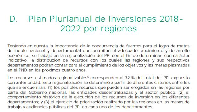 Plan Plurianual de inversiones 2018- 2022 para la Región Caribe 1