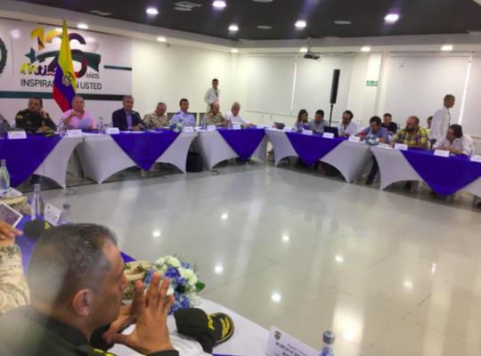 Congresista Lorduy asistió al consejo de seguridad en Barranquilla con el presidente Iván Duque 2
