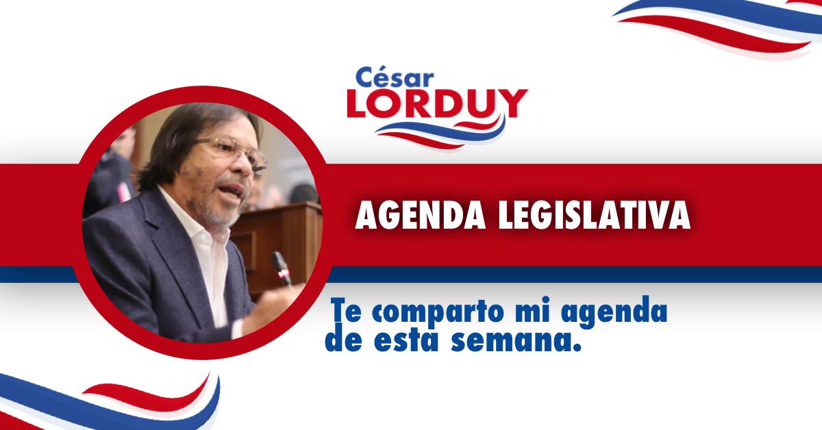 Cesar Lorduy comparte su agenda legislativa en la Cámara de Representantes del 13 al 17 de mayo 3