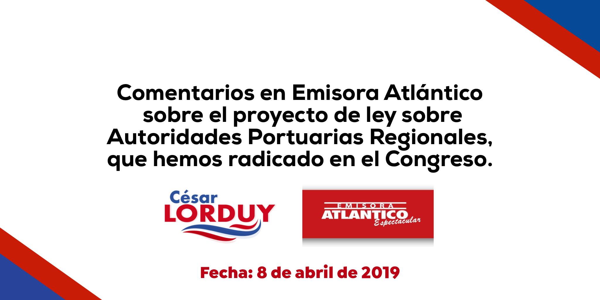 Proyecto de ley de autoría de Lorduy sobre Autoridades Portuarias Regionales sigue avanzando; la Región Caribe lo necesita 2