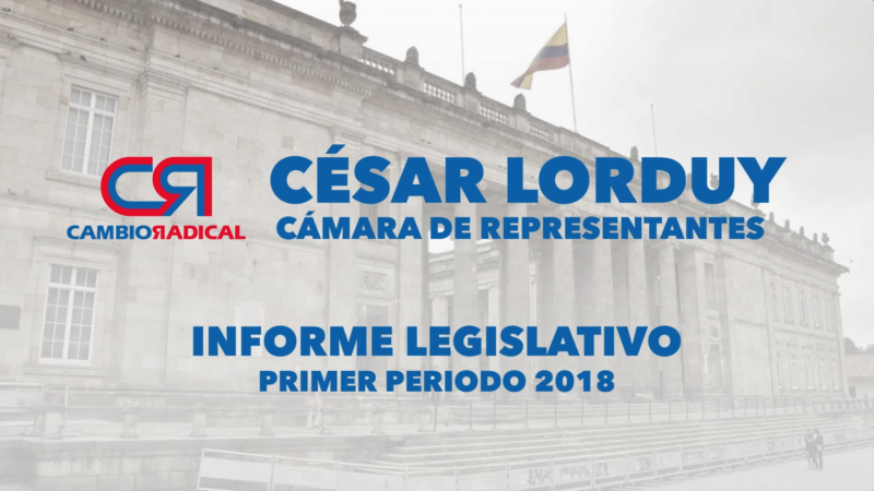Informe de gestión de Cesar Lorduy, Representante a la Cámara por el departamento de Atlántico 1