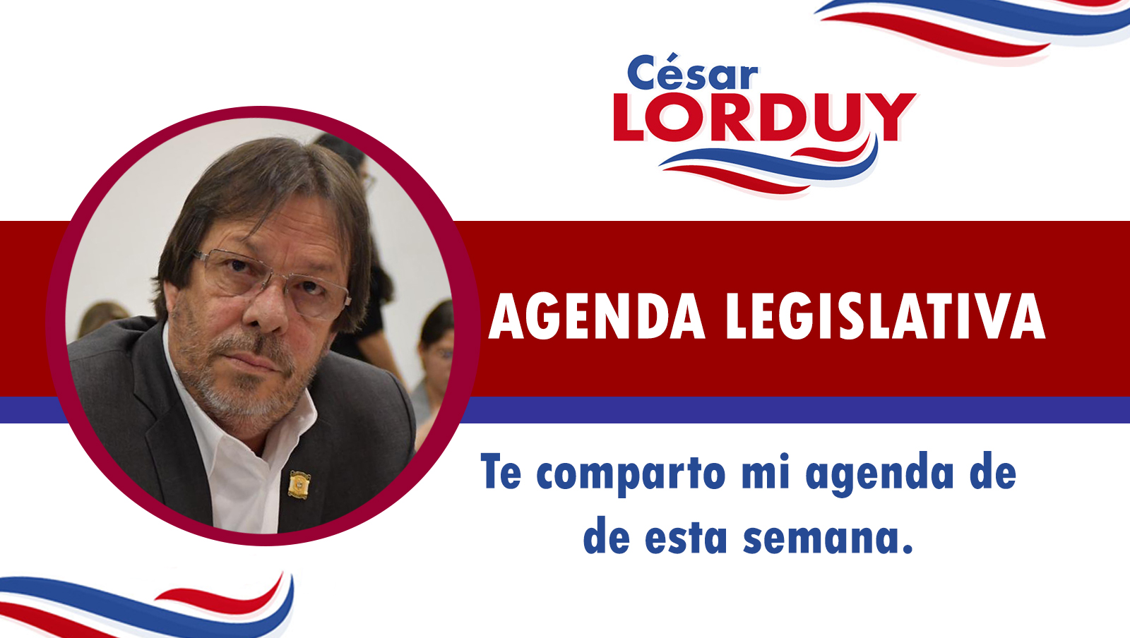 Cesar Lorduy comparte su agenda legislativa en la Cámara de Representantes del 20 al 25 de julio 4