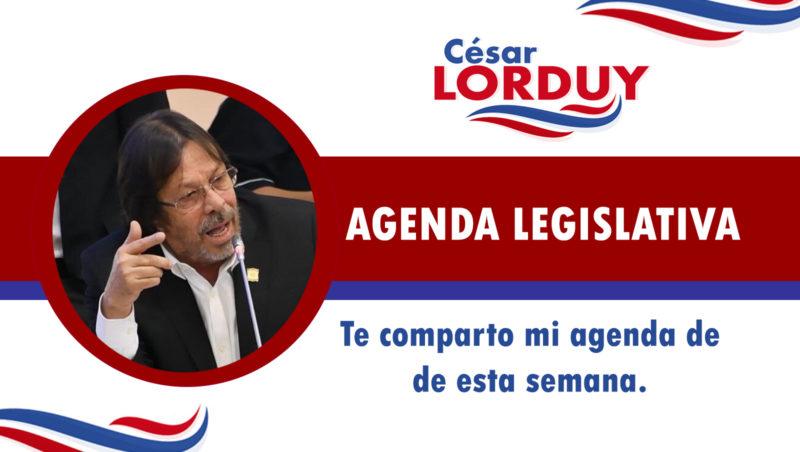Cesar Lorduy comparte su agenda legislativa en la Cámara de Representantes del 12 al 16 de agosto 1