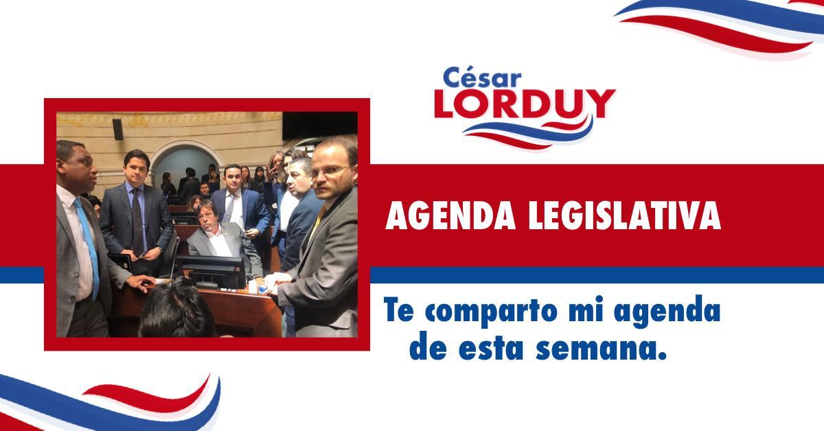 Cesar Lorduy comparte su agenda legislativa en la Cámara de Representantes del 10 al 14 de junio 3