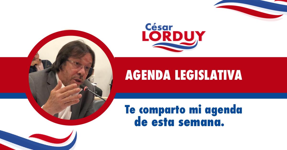 Cesar Lorduy comparte su agenda legislativa en la Cámara de Representantes del 3 al 7 de junio 1