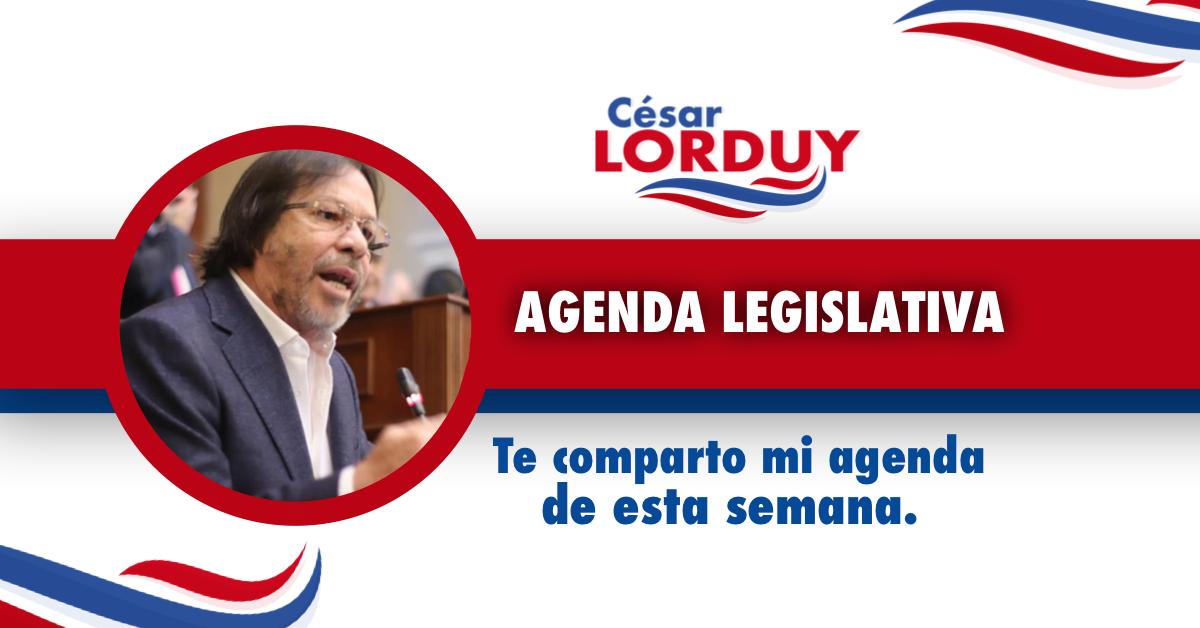 Cesar Lorduy comparte su agenda legislativa en la Cámara de Representantes del 27 al 31 de mayo 3