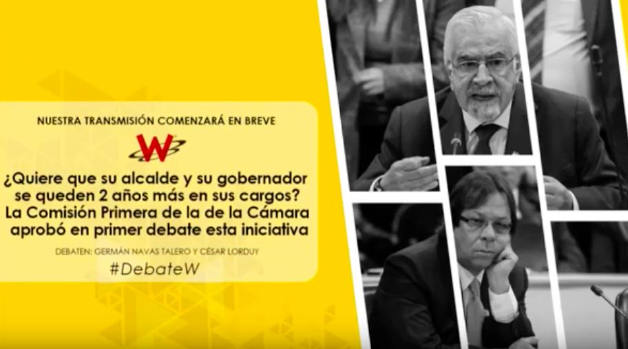 Debate entre Cesar Lorduy y Germán Navas Talero: Unificar periodos de gobierno 4
