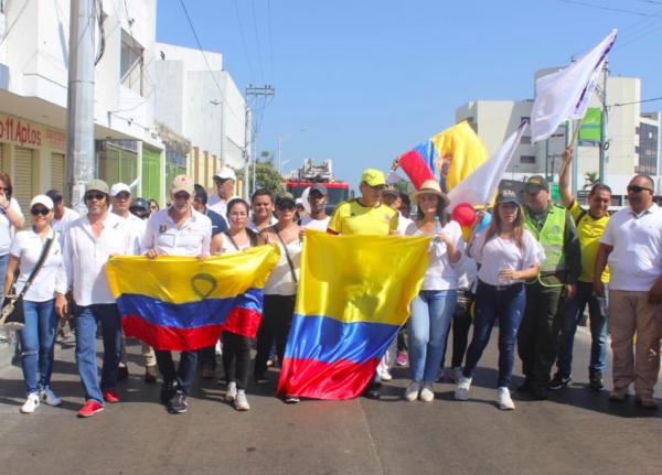Lorduy marchó en Barranquilla por una Colombia en paz y sin terrorismo 3