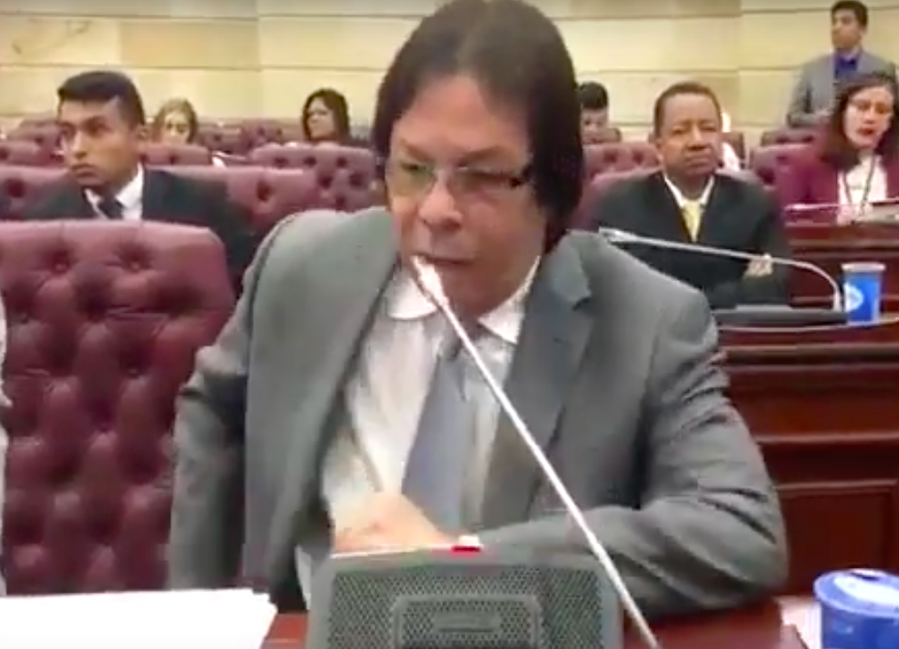 Constancia de protesta de Lorduy por intención de reducir el presupuesto a la Región Caribe 1