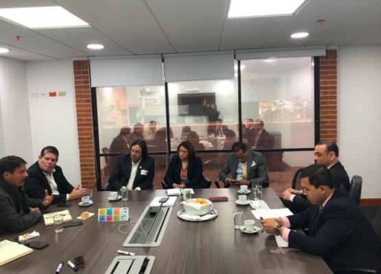 Reunión de Cesar Lorduy y superservicios Natasha Avendaño