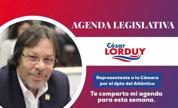 Cesar Lorduy comparte su agenda legislativa en la Cámara de Representantes del 26 al 30 de agosto 3