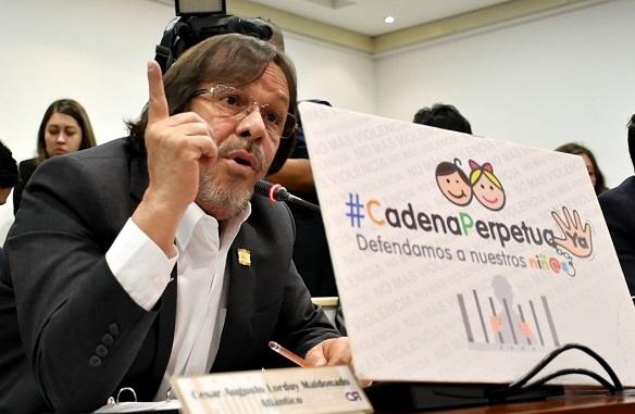 """""""Absurdo aplazar debate sobre cadena perpetua"""": Cesar Lorduy, representante a la Cámara 2"""