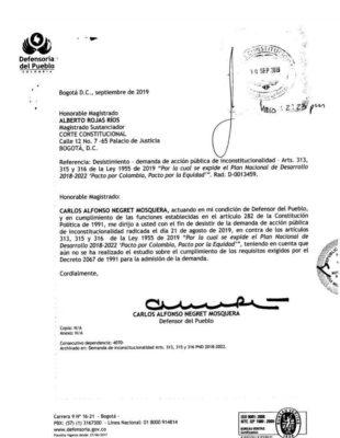 Con beneplácito Char y Lorduy reciben solicitud del defensor en la que desiste de demanda contra plan de salvamento del servicio de energía para el Caribe 3