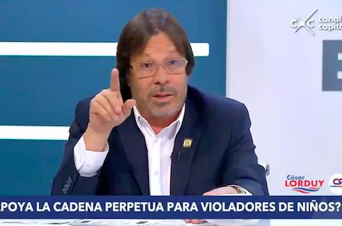 Cesar Lorduy satisfecho con el concepto del Consejo Superior de Política Criminal que aprueba Cadena Perpetua 1
