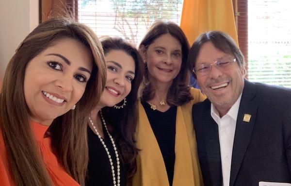Marta Lucia Ramirez y Cesar Lorduy