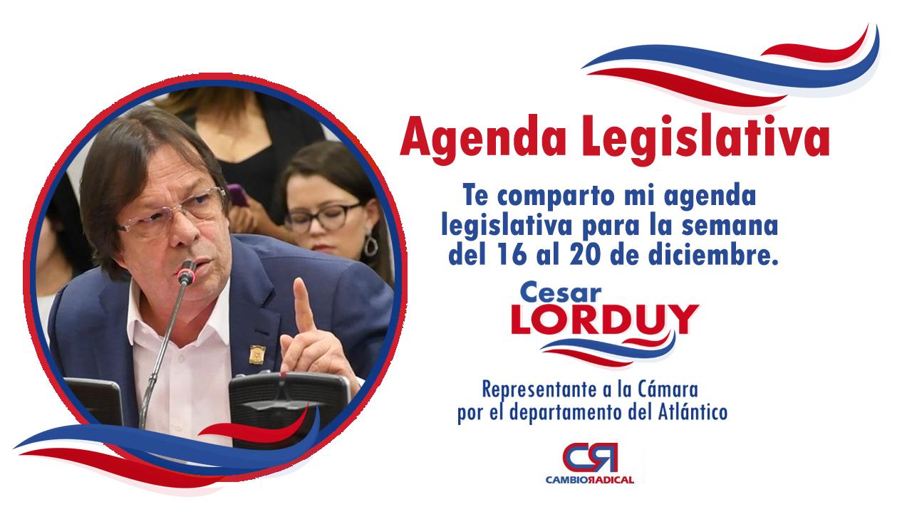Te comparto mi agenda legislativa en la Cámara de Representantes del 16 al 20 de diciembre 3