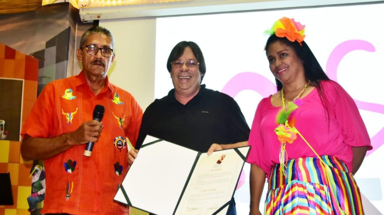 Cesar Lorduy reconocido por salvaguardar el Carnaval 1