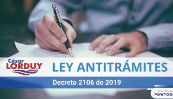 No mas tramites Ley Antitrámites Decreto 2106 2019