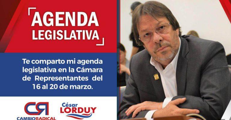 agenda legislativa en camara de representantes
