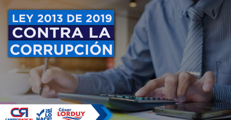 Ley 2013 de 2019 contra la corrupción