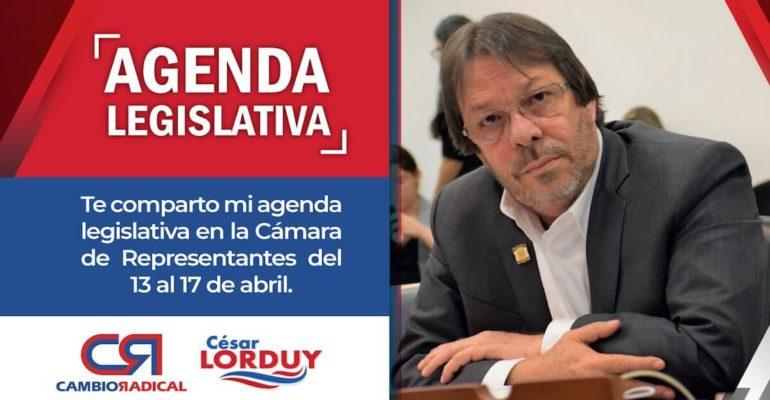agenda legislativa 13 al 17 de abril