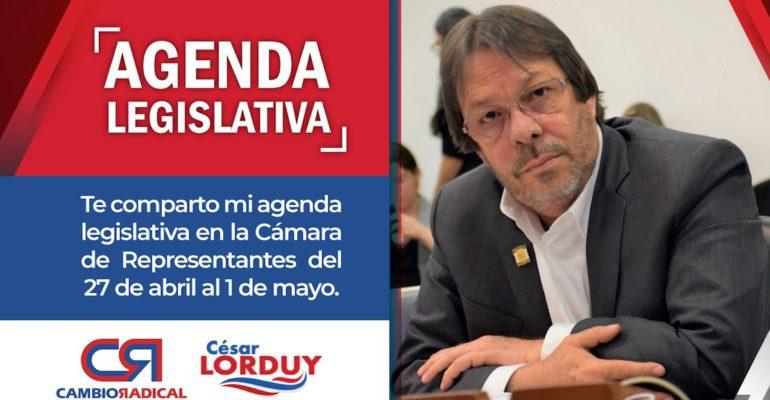 agenda legislativa de Cesar Lorduy