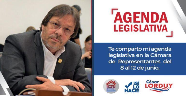 Agenda de Cesar Lorduy para la semana del 8 de julio