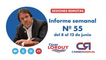 Informe 55 de Cesar Lorduy