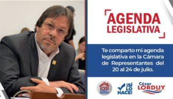 Agenda de julio de Cesar Lorduy