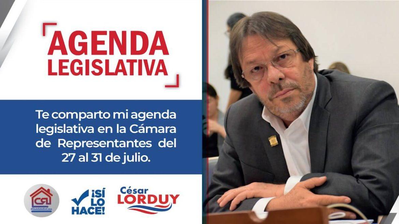 Cesar Lorduy_ agenda 27 de julio