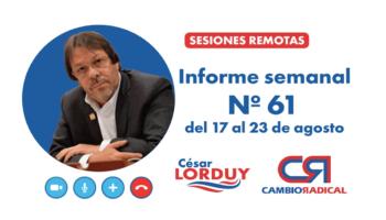 Cesar Lorduy presenta su informe de actividades