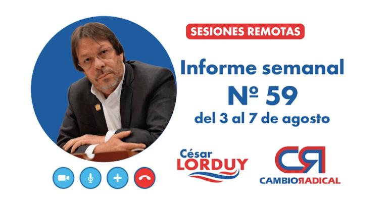 Informe 59 de Cesar Lorduy