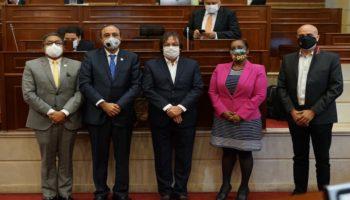 Representantes al momento de la radicación del proyecto de alumbrado público