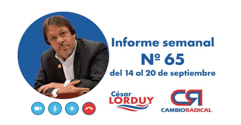 Informe 65 de Cesar Lorduy