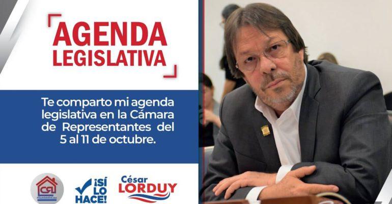 Agenda legislativa Cesar Lorduy