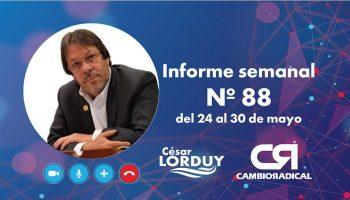 Informe de actividades de Cesar Lorduy