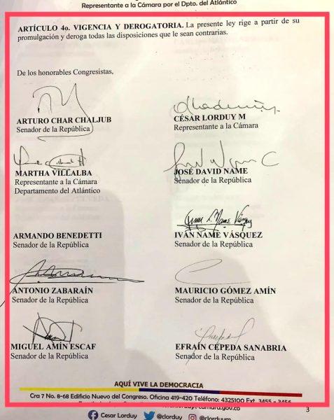 Radicado proyecto de ley que otorga amnistías y alivios por multas de tránsito, propuesta de Jaime Pumarejo llevada al Congreso 4