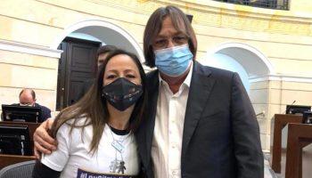 Cesar Lorduy junto a Johana Jiménez