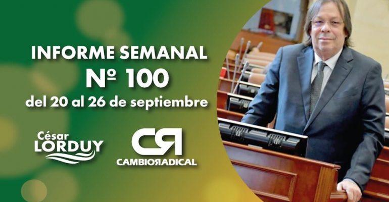Cesar Lorduy informe 100